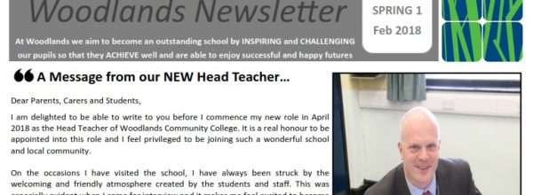 Spring Newsletter 1 – including a message from our New Head Teacher, Mr Henderson