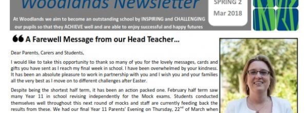 Spring newsletter 2 from Mrs T Sambrook