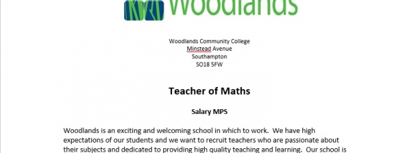 Teacher of Maths Vacancy (NQT)