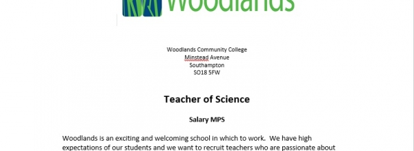 Teacher of Science Vacancy (NQT)