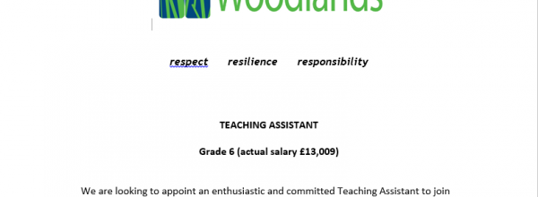 Teaching Assistant Vacancy