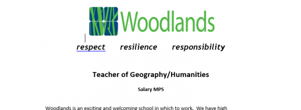 Teacher of Geography/Humanities vacancy