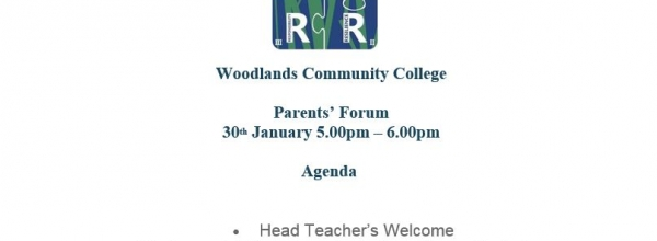 Parents Forum Agenda – 30th January 17:00-18:00