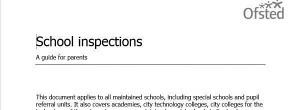 School inspections – a guide for parents