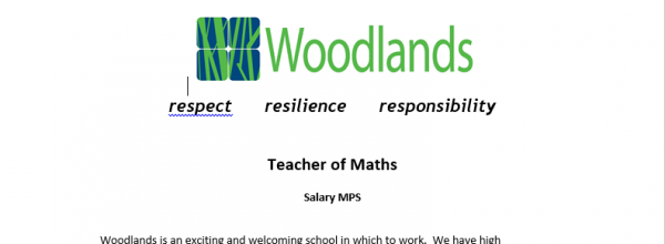 Teacher of Maths vacancy