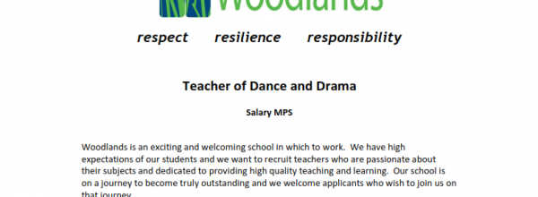 Teacher of Dance and Drama vacancy